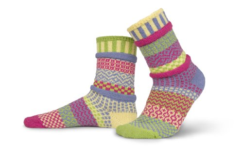 Solmate Socks - Mismatched Crew Socks; Made in USA; Aster Medium (Ebay Plus Size Clothes compare prices)