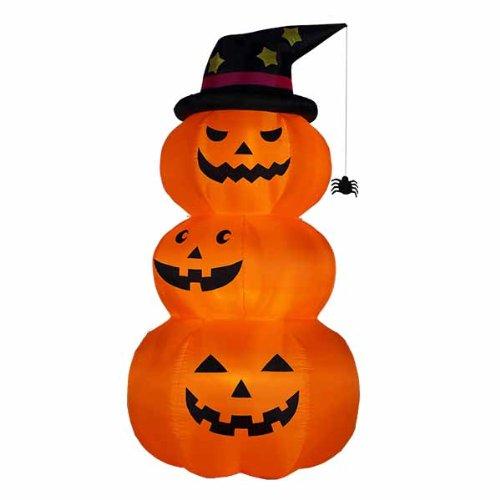 エアーディスプレイ ハロウィン3連オレンジパンプキン(L)