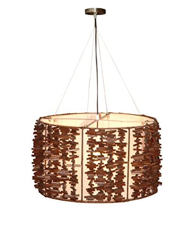 Jeffan Harold 1-Light Hanging Lamp with Liner, Brown