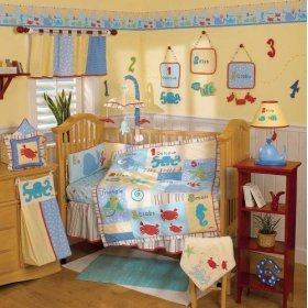 CoCaLo Baby GO FISH Window Valance