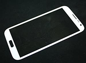 ipartstore White Front Glass   Outer Screen Glass lens Replacement For Samsung Galaxy Note II 2 Verizon I605 + Free Tools