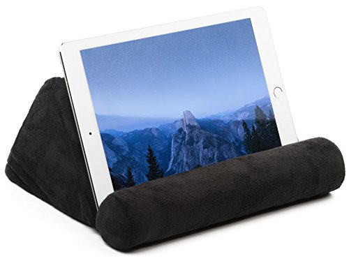 Tablet Pillow For Galaxy And IPad, Plush Microfiber Mini Tablet Computer Holder Sofa Reading Stand, Self Standing or Use on Lap, Bed, Sofa, Couch. Available in Black, Blue, and Red (Lap Tablet Stand compare prices)