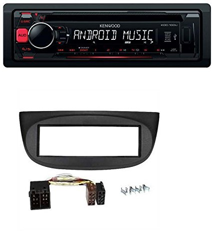 Kenwood-CD-MP3-USB-Autoradio-fr-Renault-Twingo-2007-2012-schwarz
