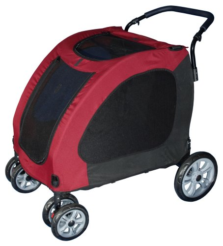 Pet Gear Expedition Pet Stroller for cats and dogs up to 150-pounds, Burgundy