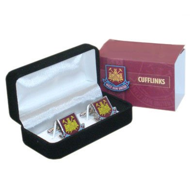 100% OFFICIAL WEST HAM UNITED UTD CREST CUFFLINKS