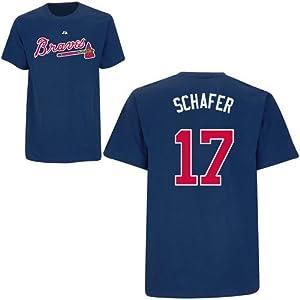 Jordan Schafer Atlanta Braves Navy Player T-Shirt by Majestic by Majestic