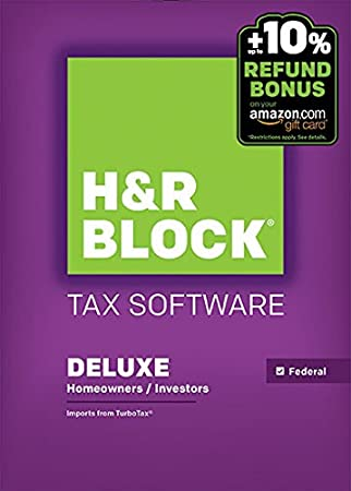 H&R Block 2015 Deluxe Tax Software + Refund Bonus Offer - Mac Download