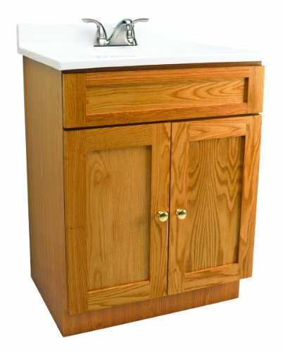 Design House 541649 Vanity Combo Oak Vanity Bathroom Cabinet With 2 Doors 31 Inch By 19 Inch By 31
