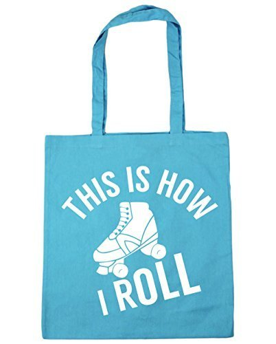 hippowarehouse-roller-skates-this-is-how-i-roll-tote-shopping-gym-beach-bag-42cm-x38cm-10-litres