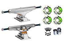 """Independent Silver 139mm Truck 8.0"""" Package Skateboard Spitfire Wheels 53mm Abec 7 Bearings"""
