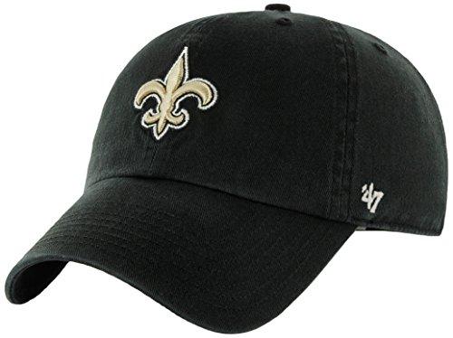 NFL New Orleans Saints '47 Clean Up Adjustable Hat, Black, One Size (New Orleans Saints Fan Gear compare prices)