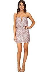 BCBGMAXAZRIA Women's Kate Sequined Strapless Dress