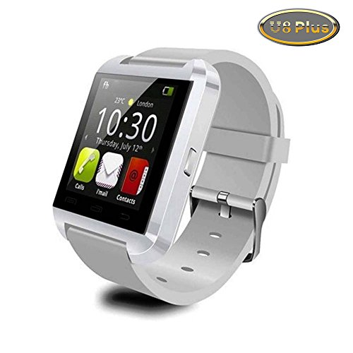Luxsure® 2015 Upgraded U8 Plus Version Bluetooth Smartwatches Smart Watch Wristwatches APP Fully Compatible IOS Android iPhone Samsung LG HTC Mobile Phone (U8 Plus-White)