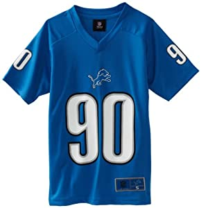 NFL Detroit Lions Ndamukong Suh 8-20 Boys NFL Fashion Performance Tee (Black, Medium)
