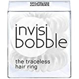 Invisibobble Traceless Hair Ring and Bracelet, Innocent White Suitable for All Hair Types