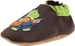 Robeez Soft Soles Fix It Dino Pre-Walker (Infant/Toddler),Brown/Green,6-12 Months (2.5-4 M US Infant)