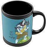 PosterGuy Har Har Mahadev Lord Shiva Digital Illustration Black Coffee Mug