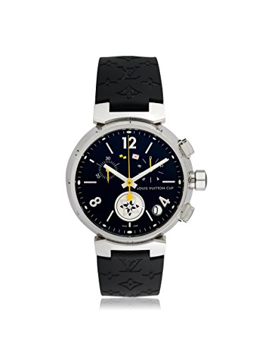 Louis Vuitton Men's Pre-Owned Tambour Cup Limited Edition Black Rubber Watch