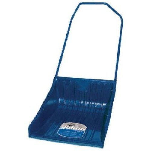 Garant YPSS26U Yukon 26 Inch Ergonomic Sleigh Shovel Poly Scoop Steel Wear Strip and Ergonomic Steel Handle, Blue