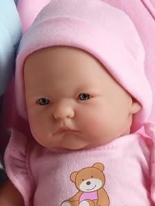 Berenguer Dolls Mini La Newborn Caucasian-Pink Blanket - 9.5 Inches