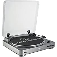 Audio Technica AT-LP60 Fully Automatic Stereo Turntable System, Silver - Factory Refurbished