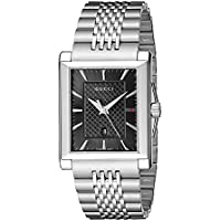 Gucci G-Timeless Rectangle Stainless Steel Men's Watch