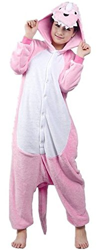 FashionFits Unisex Anime Pyjama Dinosaur Jumpsuit Cartoon Costume Adult Cosplay