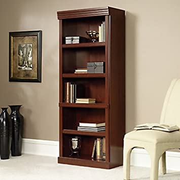 "Heritage Hill Five Shelf Open Bookcase - 71"" H(Classic Cherry)"