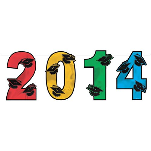 2014 Graduation Multi-color Foil Cutouts - 1