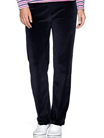 M&Co Ladies Full Length Soft Casual Sports Velour Jogging Trousers Navy Xs