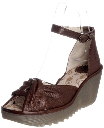 Fly London Women's Yva Brown Wedge Heel P500125018 8 UK
