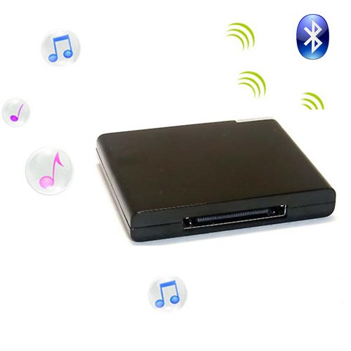 Black Wireless Bluetooth 30Pin Audio Music Receiver For Iphone Ipod Ipad
