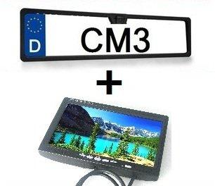 7 TFT LCD Monitor + Funk 2,4 GHZ Nummernschild Rückfahrkamera, 720 x 480 Pixel Auflösung, 170 Grad Aufnahmewinkel, Nachtsicht Funkion, PAL und NTSC, CM3-KFZ-006 von CM3 - Reifen Onlineshop