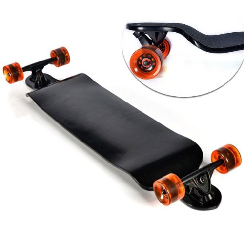 Why Choose Crash Professional Speed Drop Down Complete Longboard Skateboard 9.5x41 Deck Black For Ou...