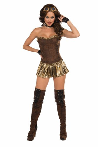 Sexy Costume Mini Skirt Adult: Gold Lame