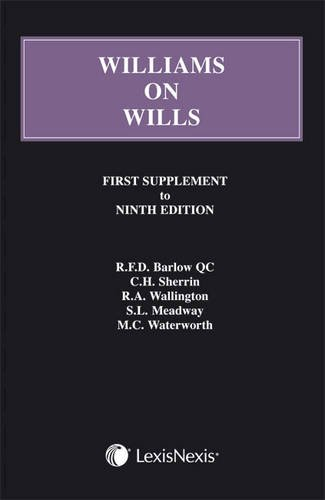 williams-on-wills-first-supplement-to-the-ninth-edition