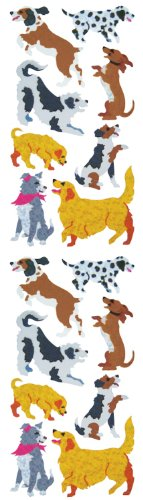 Jillson Roberts Prismatic Stickers, Dogs & Puppies, 12-Sheet Count (S7308)