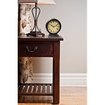 Infinity Instruments The Dais - Distressed Round Table Clock