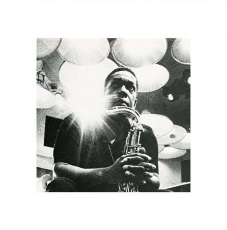 Black And White Portrait John Coltrane Print 40X40Cm