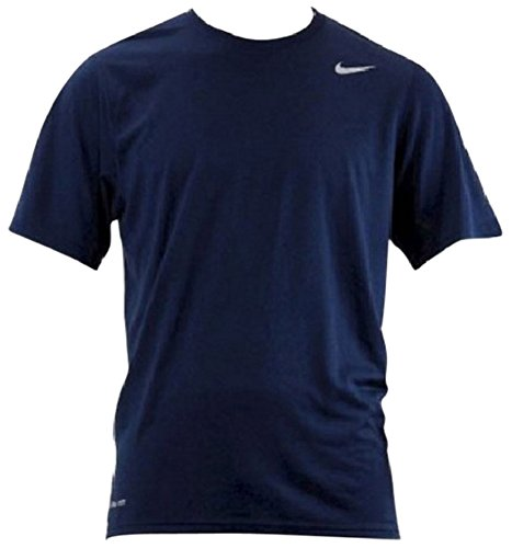Nike Mens Athletic Active Dri-Fit Tee Shirt, Navy Blue, M (Blue Nike Shirt compare prices)