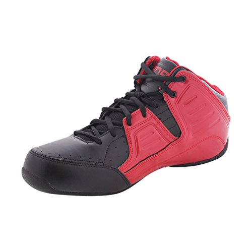 AND1 Men's Rocket 4.0 Mid Sneaker,F1 Red/Black/Silver,US 8.5 M