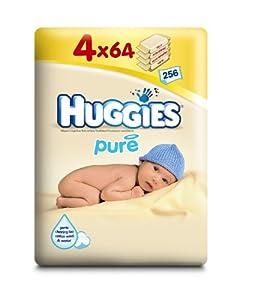 Huggies - 2395400 - Lingettes PURE 3+1 - 4x64 Lingettes