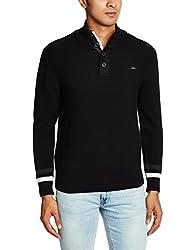 Wrangler Men's Cotton Sweater (8907222259792_WRSW2215_XX-Large_Black)