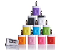 Spark Electronics 10pcs USB AC Universal Power Home Wall Travel Charger Adapter for iPhone 4 4S Samsung HTC Lot w/ Edge Grip (10PCS two-tone)