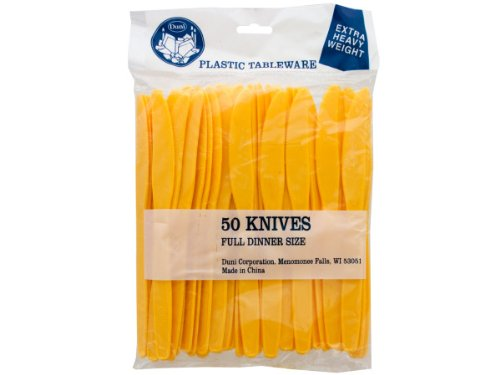 Handy Helpers Bulk Buys Plastic Knives, 50-Pack