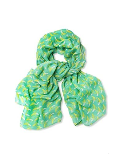 Printed Village Women's Bananas Scarf, Green/Yellow