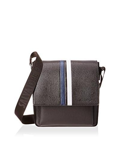 Salvatore Ferragamo Men's Messenger Bag, Fondente Pebble