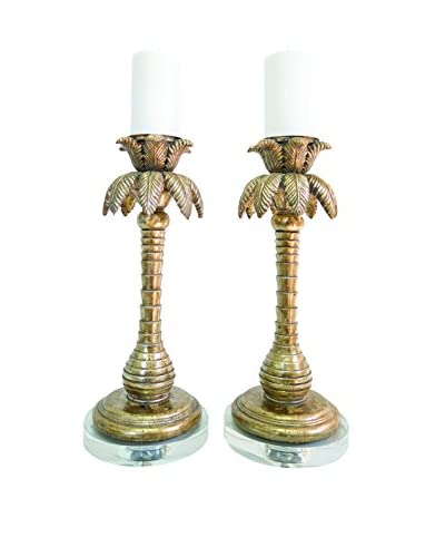 Couture Perdido Beach Candleholders, Opulent Silver/Optic Crystal