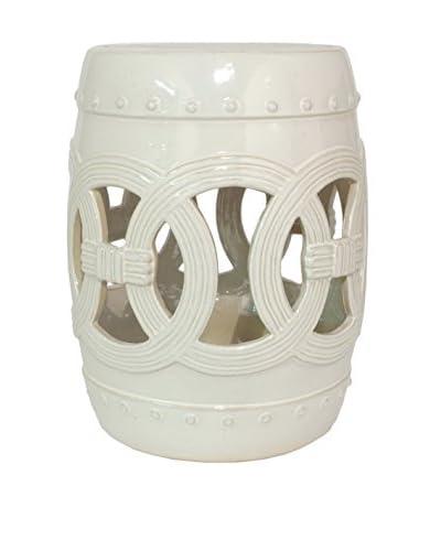 Three Hands Ivory Ceramic Garden Stool