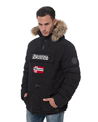 Geographical Norway Giacca Trapuntata Casimire [Nero]